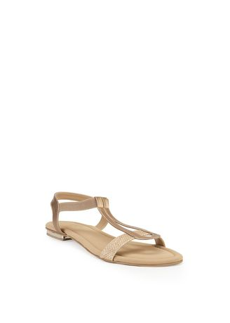 Emas color Sandal . Nicholas Edison Flat Benedict Light Gold -