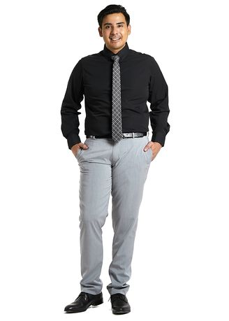 Black color Formal Shirts . PROFILE By IDENTITY Executive Series Mens Corporate Long Sleeve Black Shirt -