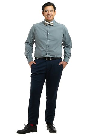 Grey color Formal Shirts . PROFILE By IDENTITY Executive Series Mens Corporate Long Sleeve Grey Shirt -