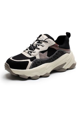 Black color Casual Shoes . Old Shoes Women Early Breathable Ins Tide Net -