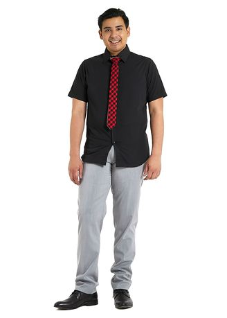Black color Formal Shirts . PROFILE By IDENTITY Executive Series Mens Corporate Short Sleeve Black Shirt -