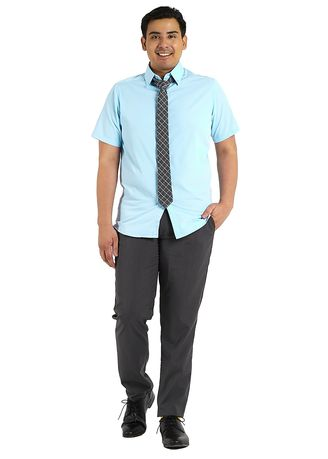 Light Blue color Formal Shirts . PROFILE By IDENTITY Executive Series Mens Corporate Long Sleeve Light Blue Shirt -