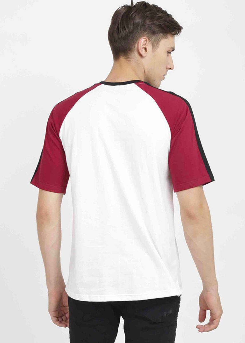 Maroon color Kaus Oblong & Polo . Rave Habbit Palban T-shirt Pria- Maroon -
