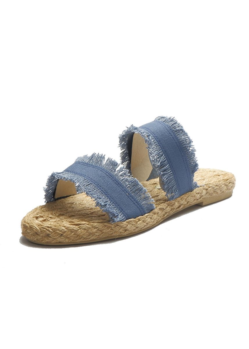 Blue color Sandals and Slippers . Gabriella Shoes Emily Abaca Flat Sandals Marikina Slip On -