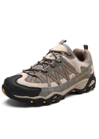 Light Grey color Sports Shoes . Couple Hiking Walking Shoes -