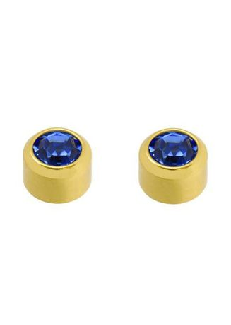 Blue color Accessories . Caflon Fashion Sense Gold Plated Sterile September Birthstone Earrings - Sapphire -