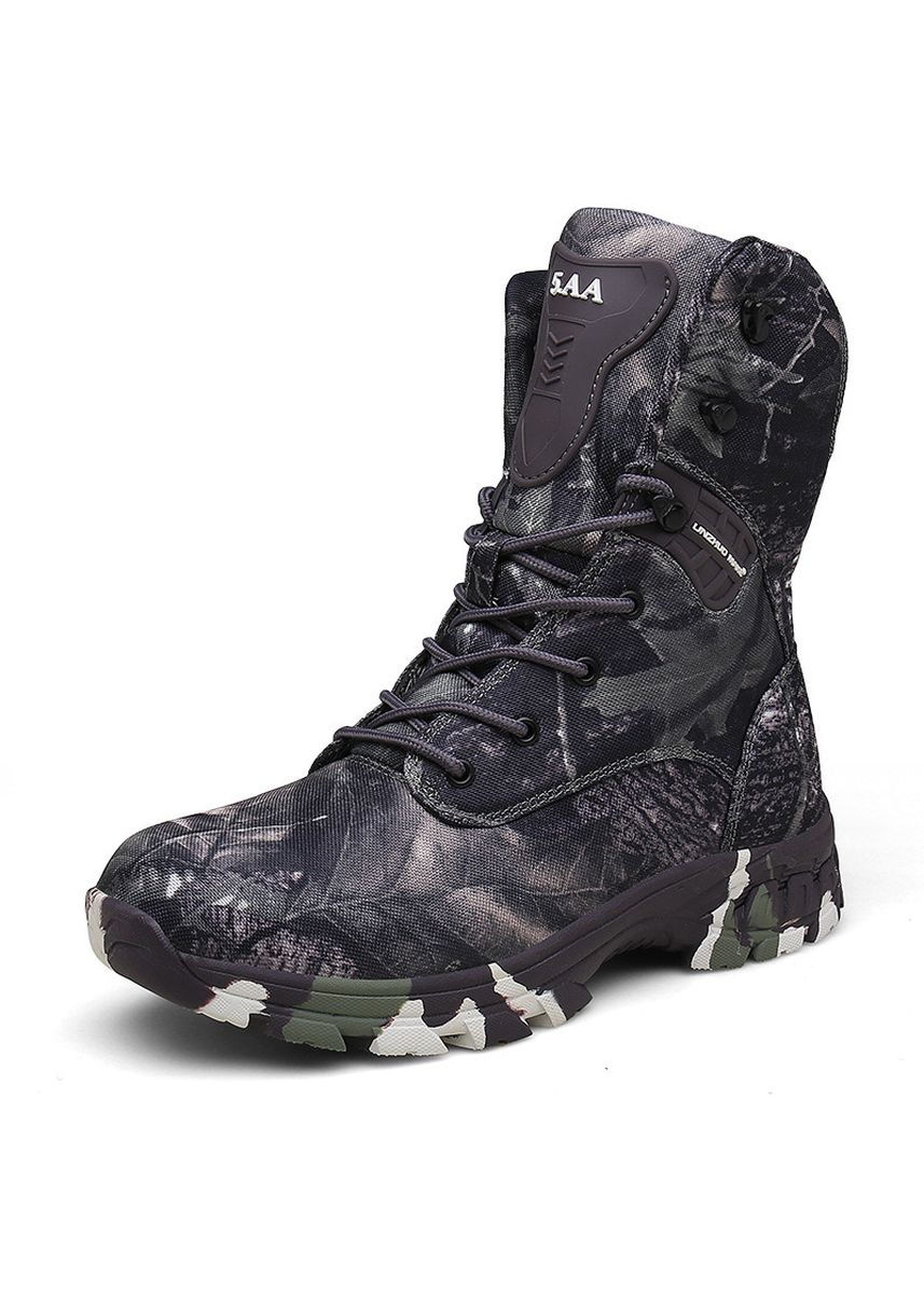 เทา color บู้ต . Hiking Non-slip Fishing Hunting Boots -