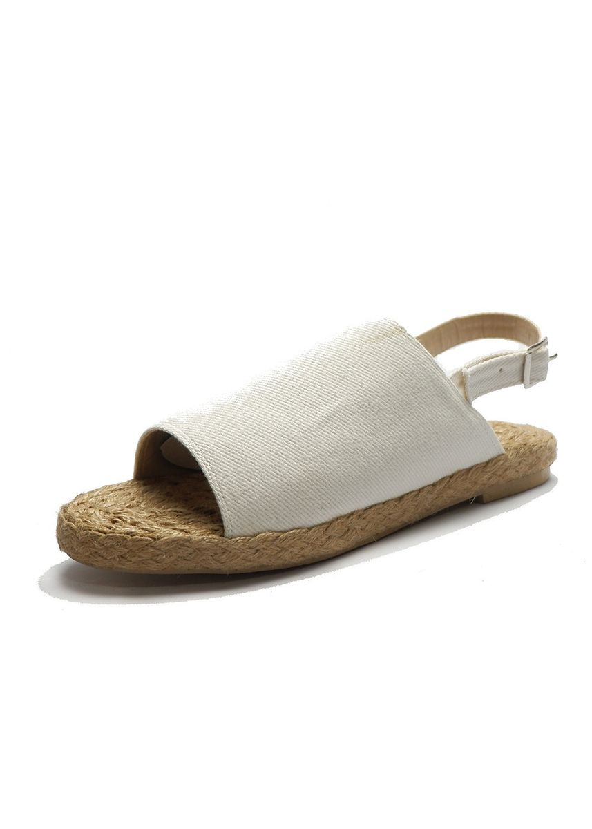 White color Sandals and Slippers . Gabriella Shoes Lauren Abaca Flat Sandals Marikina Slip On -