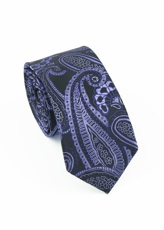 Violet color Ties . IDENTITY Men's Woven Hand Made Printed Slim Necktie -