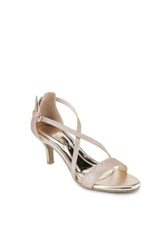 Emas color Sepatu Heels . Nicholas Edison Heel Kitty Light Gold -
