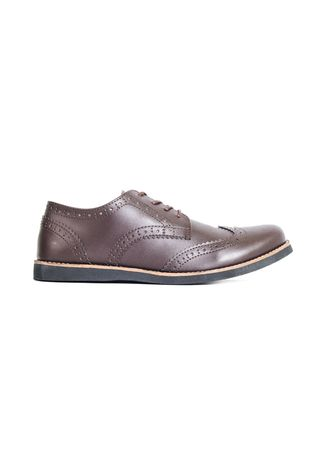 Brown color Formal Shoes . Sepatu Formal Pria Alpha Brown -