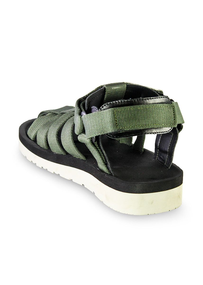 Green color Sandals and Slippers . Sandal Casual Pria Marvin Green -