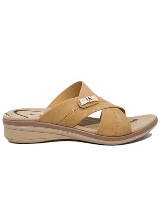 Beige color Sandals and Slippers . Homyped Clarisa N45 Sandal Wanita Krem -
