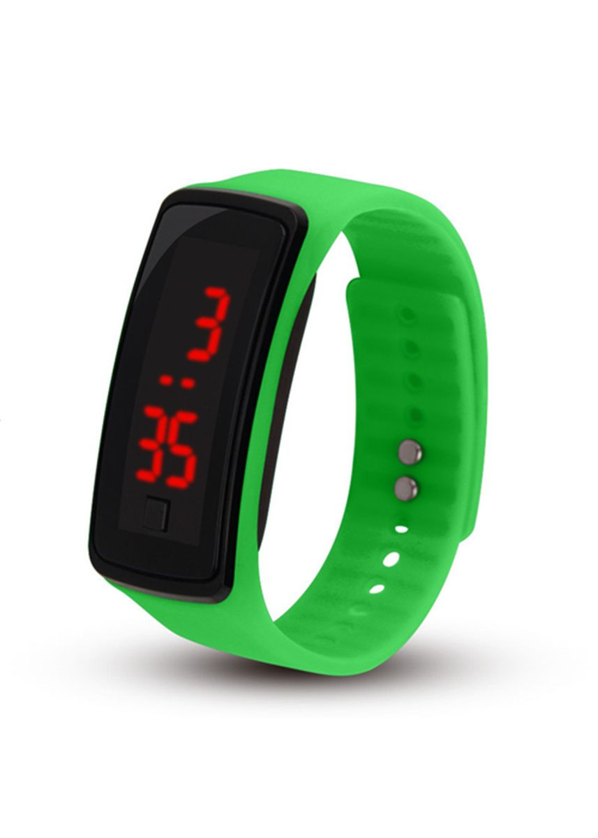 Green color  . Celina Home Textiles Creative LED Silicone Wristband Sports Band Watch -