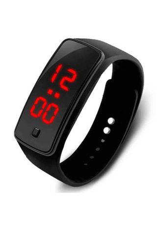 Black color  . Celina Home Textiles Creative LED Silicone Wristband Sports Band Watch -