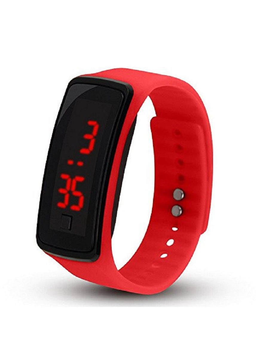 Red color  . Celina Home Textiles Creative LED Silicone Wristband Sports Band Watch -