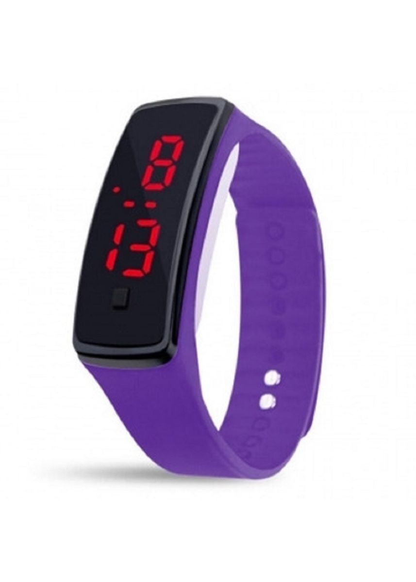 Violet color  . Celina Home Textiles Creative LED Silicone Wristband Sports Band Watch -