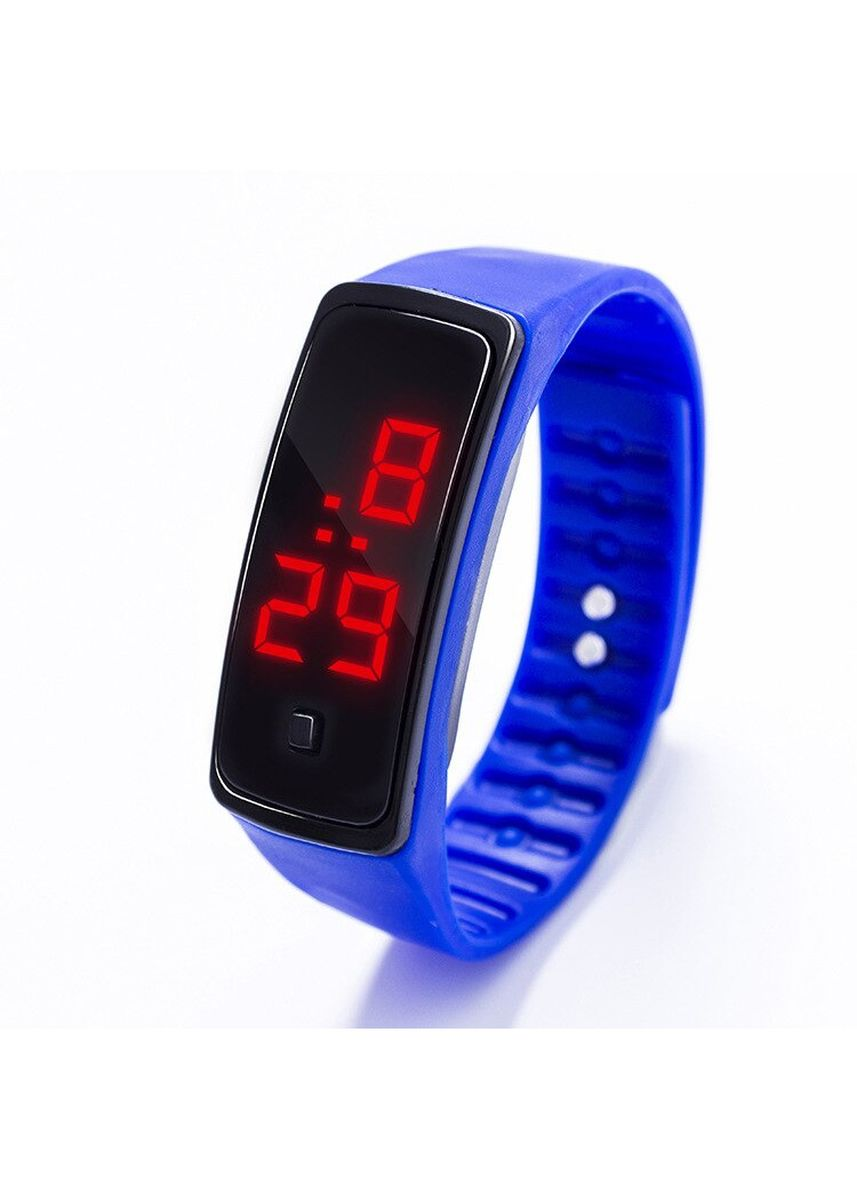 Blue color  . Celina Home Textiles Creative LED Silicone Wristband Sports Band Watch -