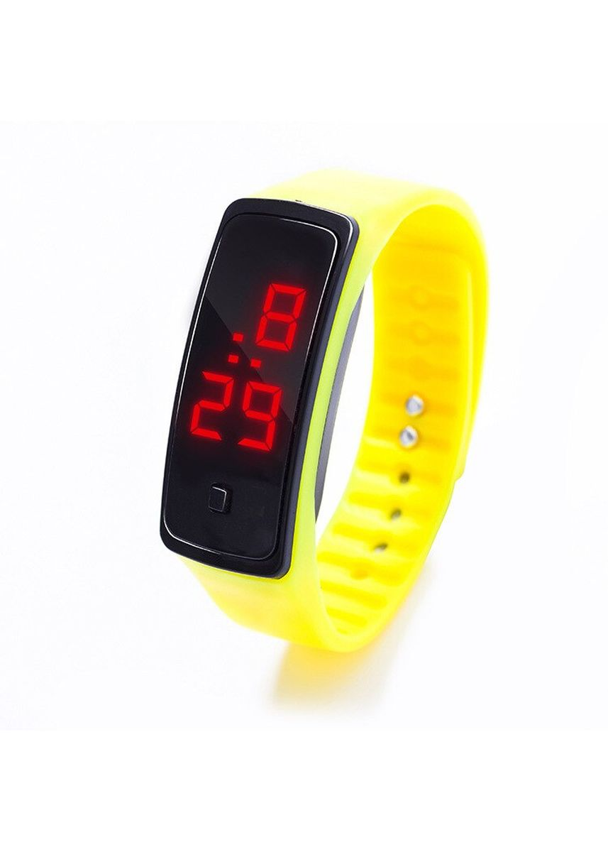 Yellow color  . Celina Home Textiles Creative LED Silicone Wristband Sports Band Watch -