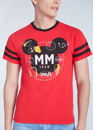 Red color T-Shirts and Polos . Official Disney Mickey and Friends Player One Red T-shirt -