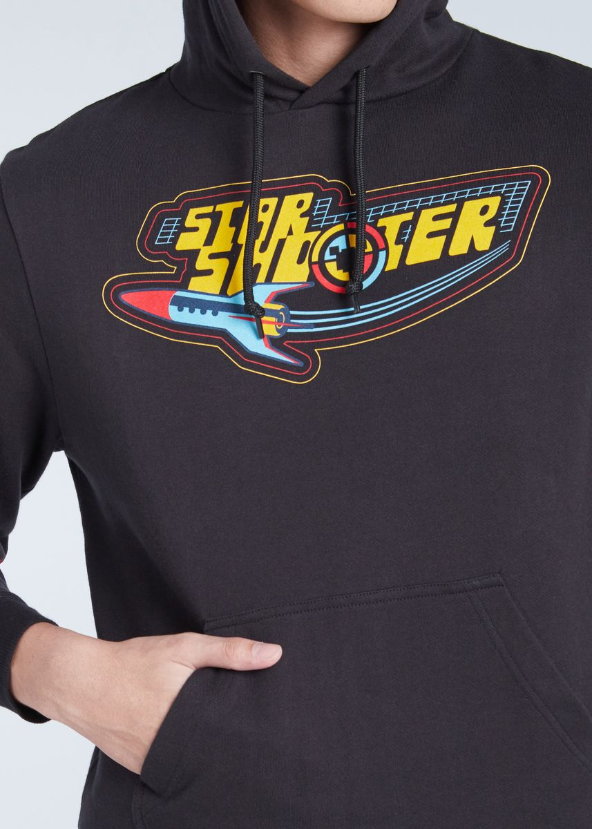 Black color Jackets . Official Disney Mickey and Friends Star Shooter Hoodie -