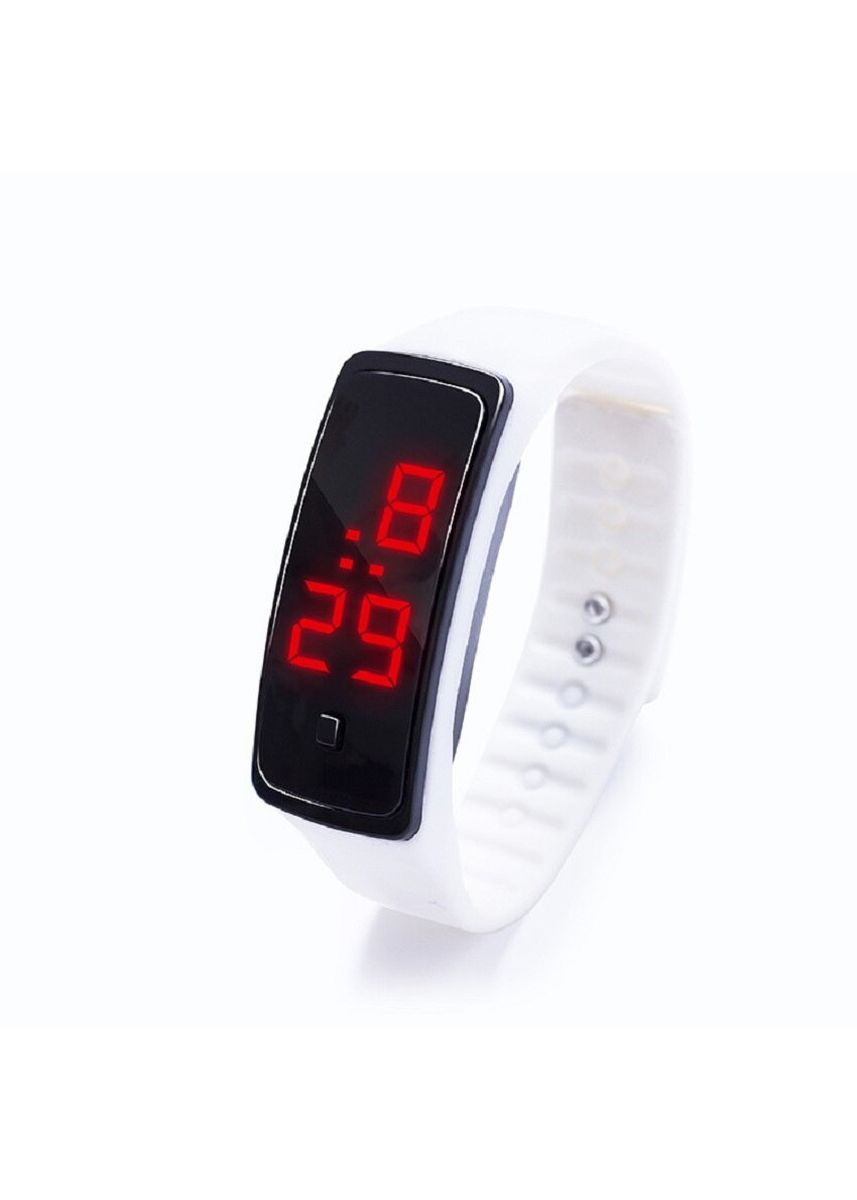 White color  . Celina Home Textiles Creative LED Silicone Wristband Sports Band Watch -