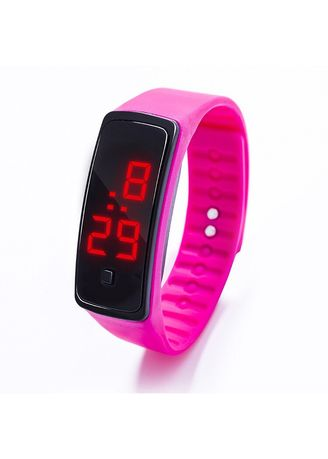 Pink color  . Celina Home Textiles Creative LED Silicone Wristband Sports Band Watch -