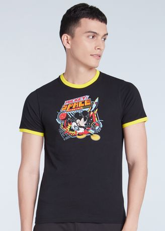 Black color T-Shirts and Polos . Official Disney Mickey and Friends Space Patrol T-shirt -