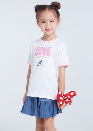 White color Tops . Official Disney Mickey and Friends Roller Skate T-Shirt - White -