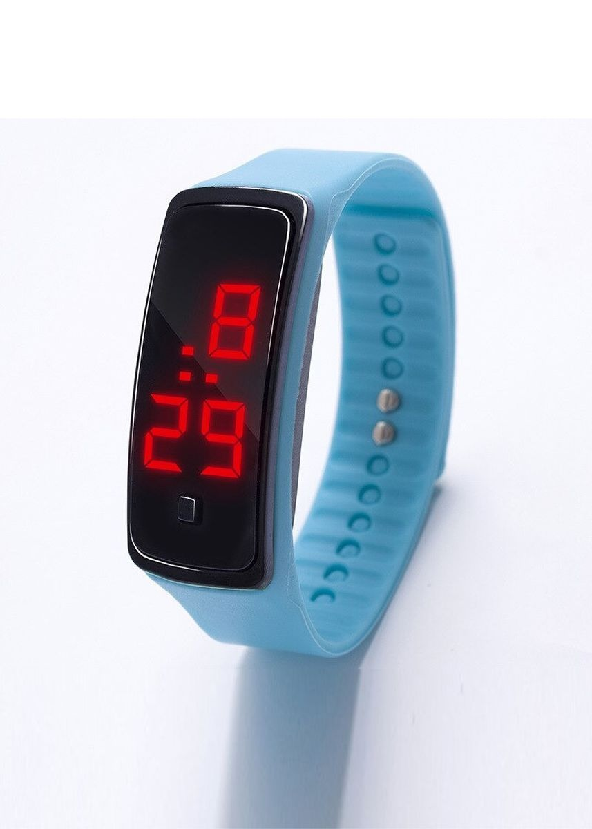 Light Blue color  . Celina Home Textiles Creative LED Silicone Wristband Sports Band Watch -