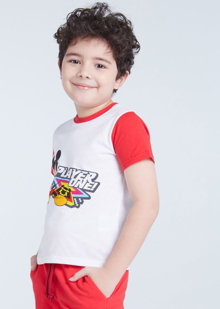 มัลติ color เสื้อ . Official Disney Mickey and Friends Player One Boys T-shirt -