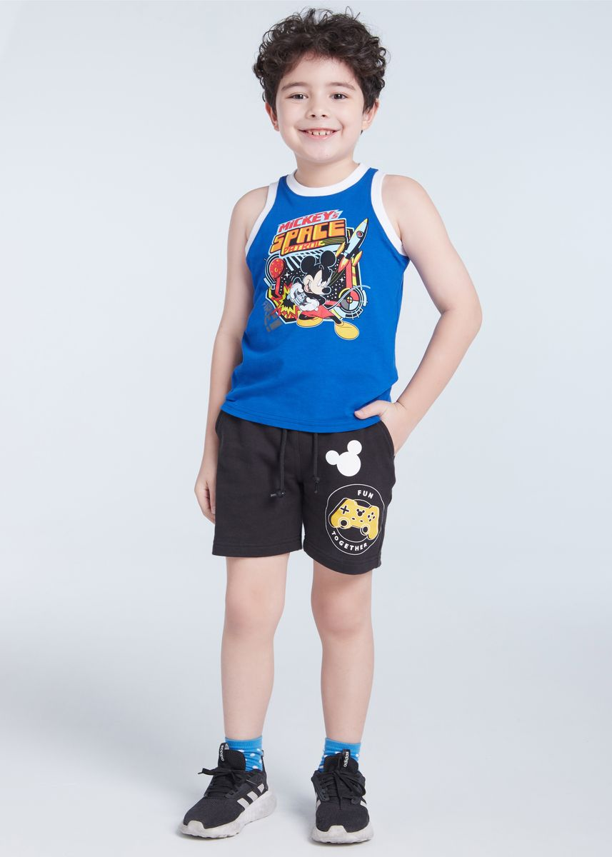 ฟ้า color เสื้อ . Official Disney Mickey and Friends Space Patrol Tank Top -