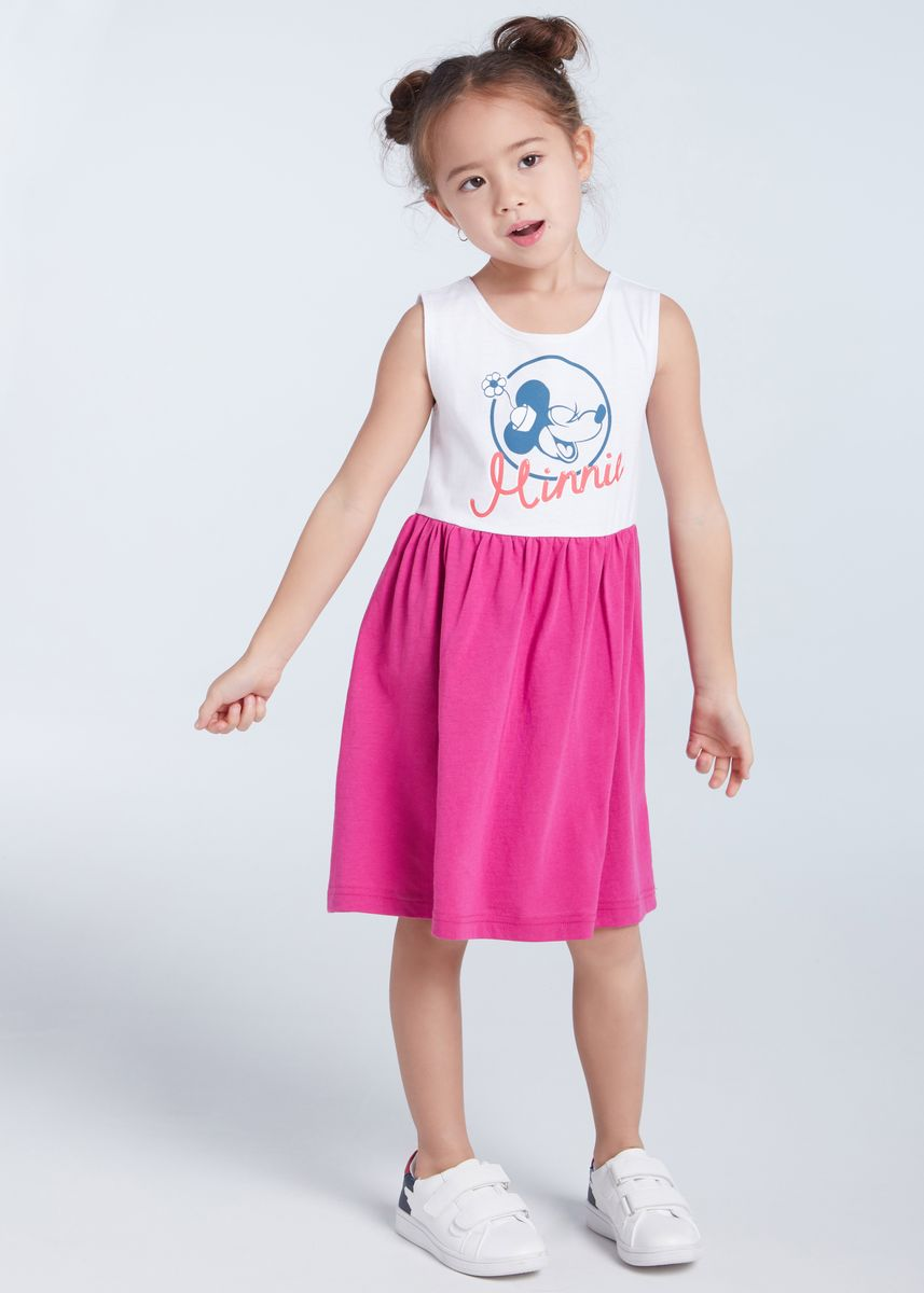 มัลติ color เดรส . Official Disney Mickey and Friends Minnie Girly Dress -
