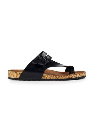 Hitam color Sandal . Sandal Casual Alfaro Black -