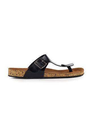 Black color Sandals and Slippers . Sandal Casual Pria Zayn Black -