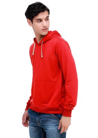 Red color Jackets . COTTON GOODS JACKET HOODIE PRIA - RED PULLOVER HOODIE -