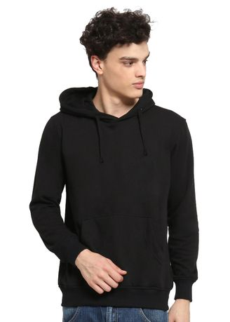 Black color Jackets . SIGGEIR HOODIE (UNISEX) - COTTON GOODS -