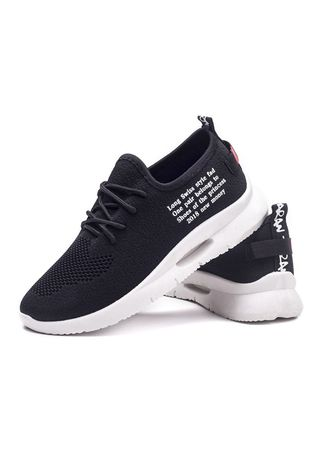 Black color Casual Shoes . Hollow Running Shoes -