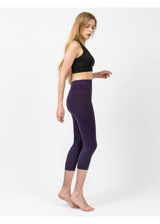 Purple color Leggings . Nokjok New Line 7bu Capri Leggings -