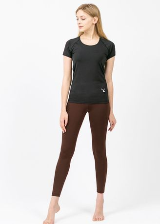 Brown color Leggings . Nokjok New Line 9bu Cropped Leggings -