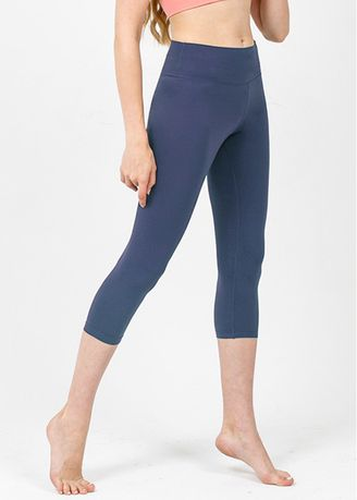 Blue color Leggings . Nokjok New Basic 7bu Capri Leggings -