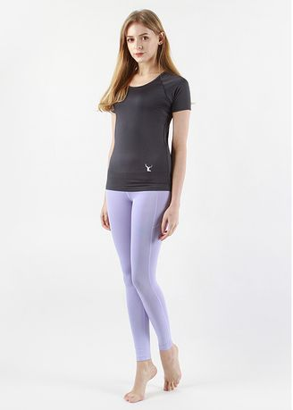 Violet color Leggings . Nokjok Line 9bu Cropped Leggings -