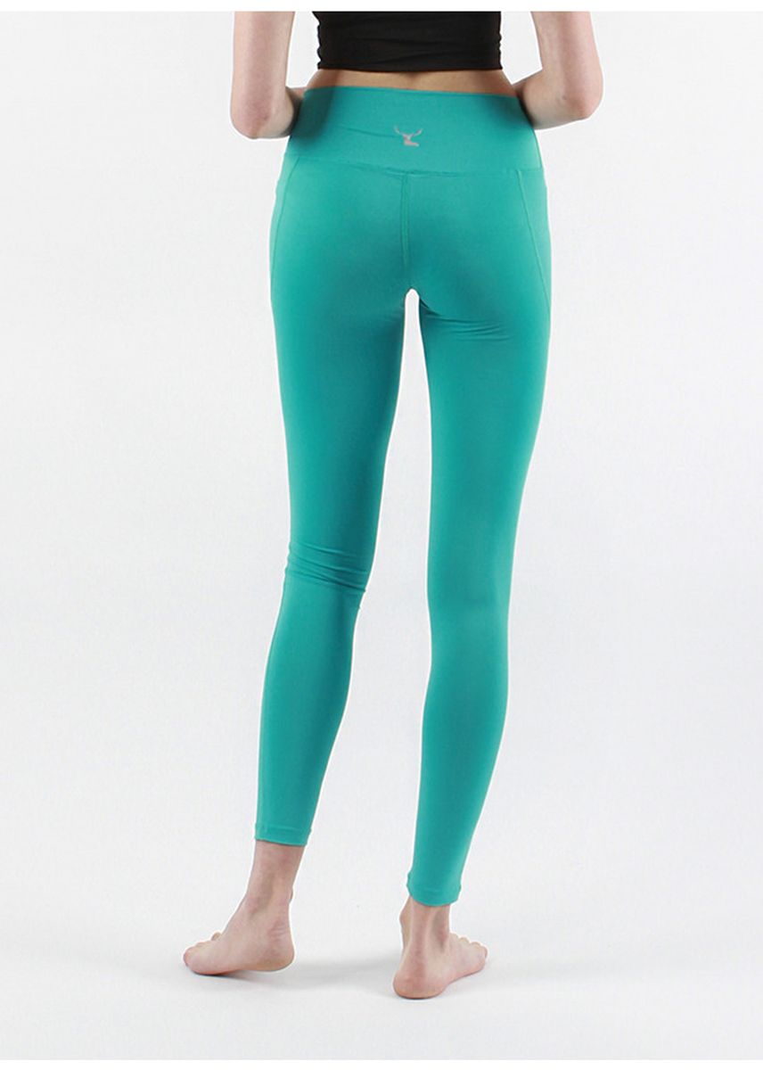 Green color Leggings . Nokjok Line 9bu Cropped Leggings -