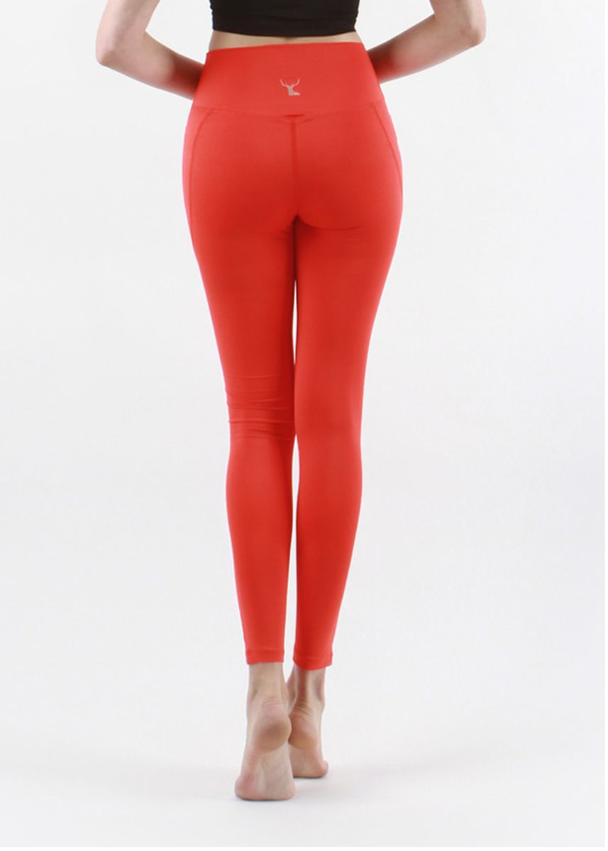 Orange color Leggings . Nokjok Line 9bu Cropped Leggings -