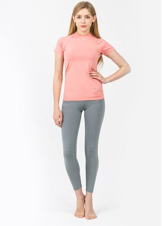 Light Grey color Leggings . Nokjok Basic 9bu Cropped Leggings -