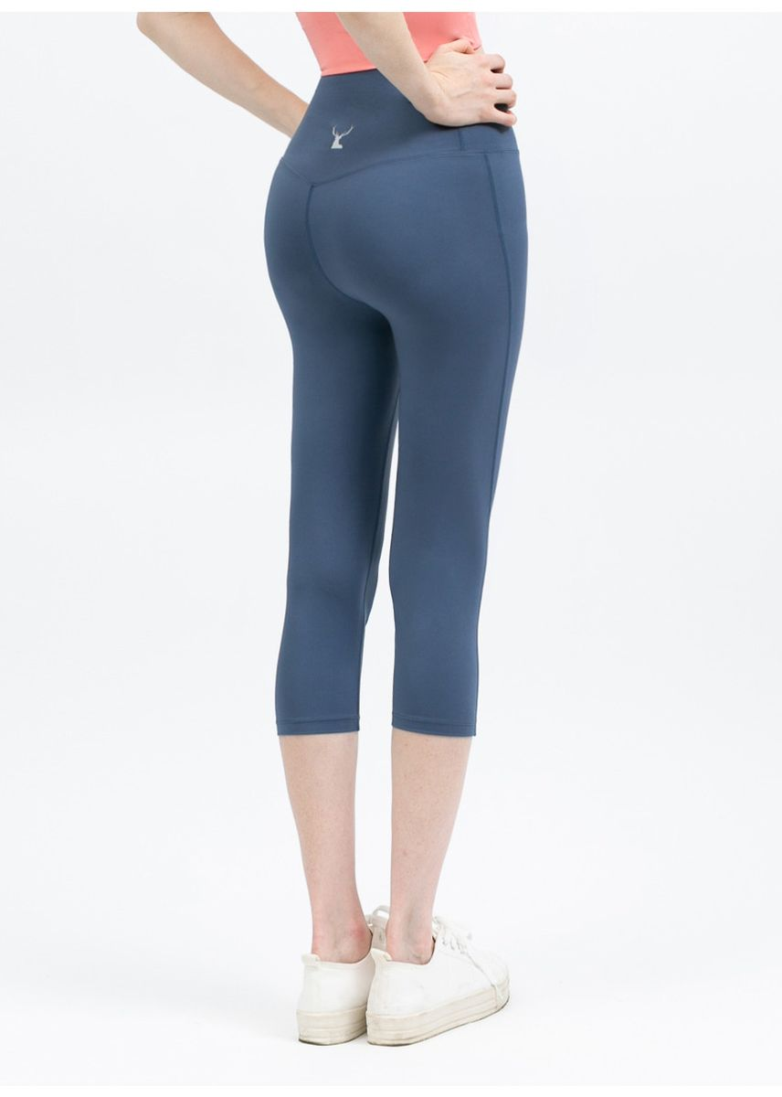 Blue color Leggings . Nokjok Jennie 7bu Capri Leggings -