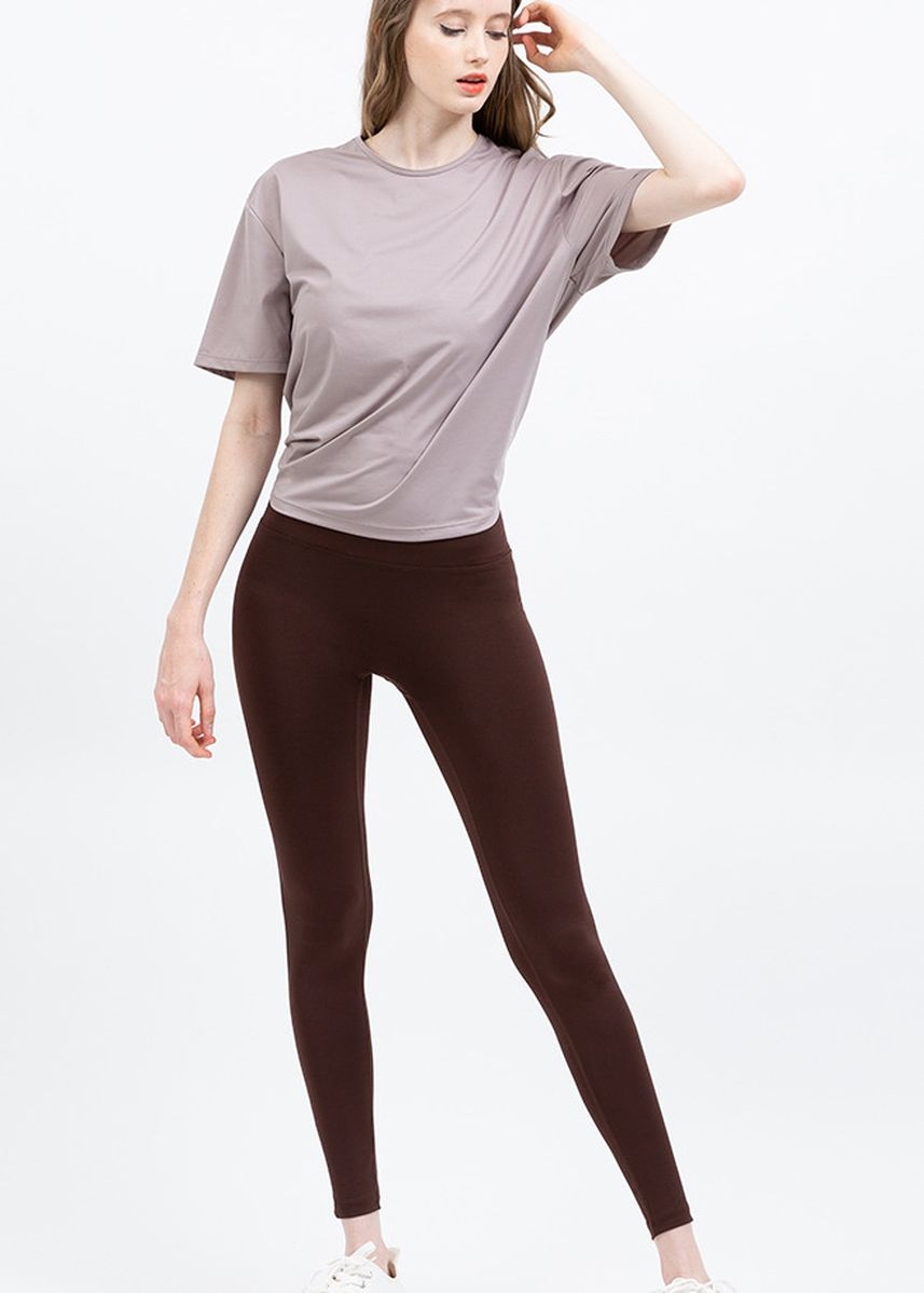 Brown color Leggings . Nokjok Jennie 9bu Cropped Leggings -