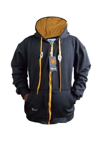 Black color  . Brinka - Switer Zipper Hoodie Treebeards -