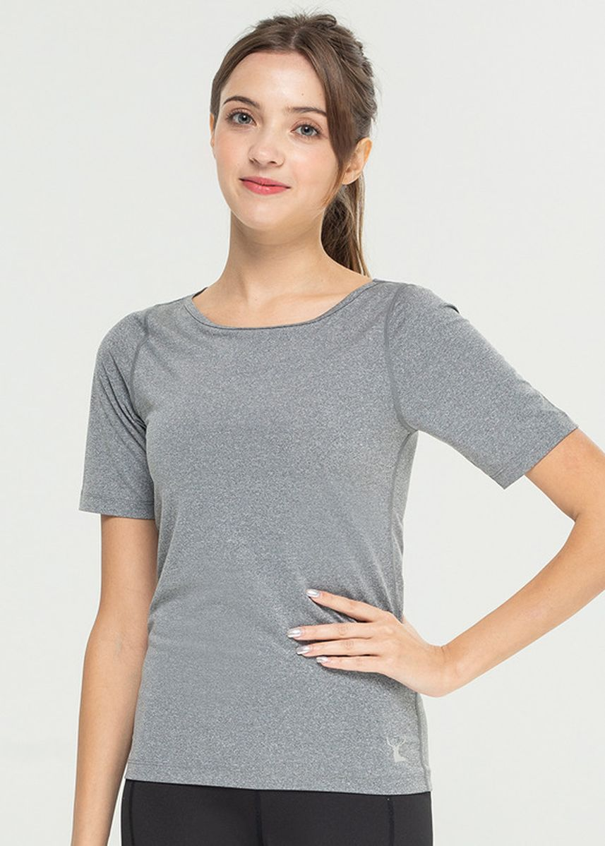 Grey color Tees & Shirts . Nokjok Around Half Sleeve T-Shirt -