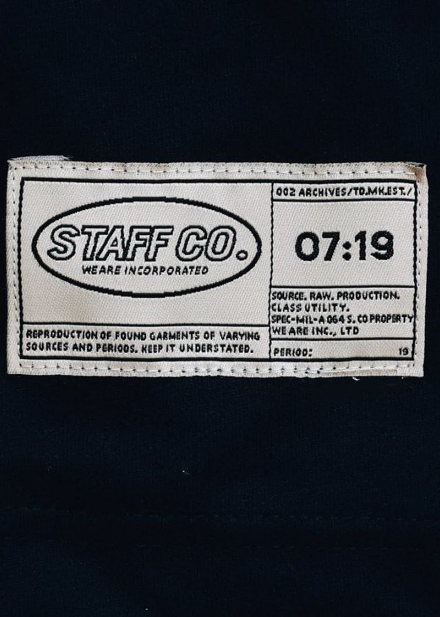 Navy color  . Staff Co. Spare Form Classic Tee -